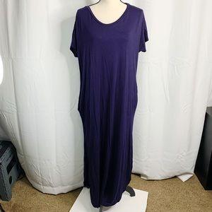 Issac liev maxi dress navy blue M